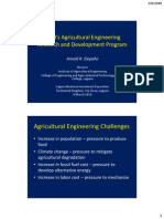 UPLB's Agricultural Engineering Research and Development Program