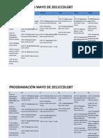 Programacion Mayo de 2011