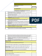Assessment Matrix for SIT SIR BSB