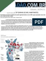 Centro de São Paulo ganha 63 mil habitantes
