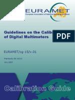 EURAMET-Cg-15.01 Guidelines Calibration Digital Multi Meters