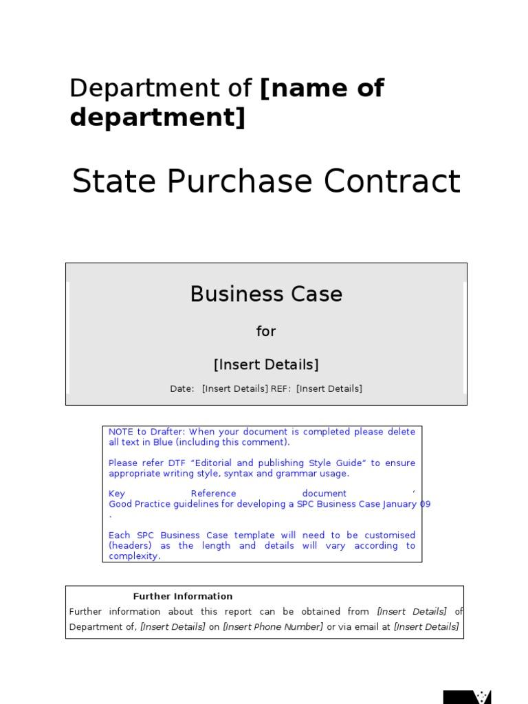 D09 56510 Template Web Copy Spc Business Case Report Procurement