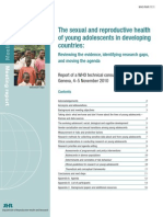The sexual and reproductive health of young adolescents in developing countries: