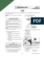Specimen Test Form 3