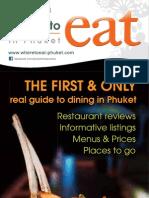 Where to Eat Phuket May - June 2011