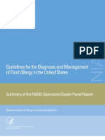 Guidelines for the Diagnosis and Managemen of Food Allergy