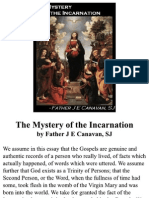 The Mystery of the Incarnation, by Father J E Canavan, SJ