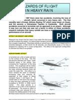 Hazards of Flight in Heavy Rain