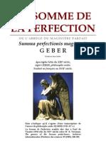 Alchimie Geber - La Somme de La Perfection