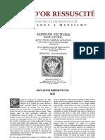 [Alchimie] Hadrianus A Mynsicht - L'Âge d'Or ressuscité