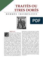 [Alchimie] Hermès Trismégiste - Sept traités ou chapitres dorés