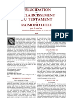 Alchimie Lulle Raymond - Elucidation Du Testament