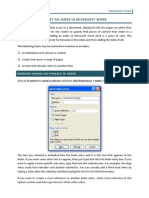 Insert an Index in Microsoft Word