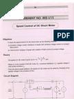 Speed Control of DC Shunt Motor