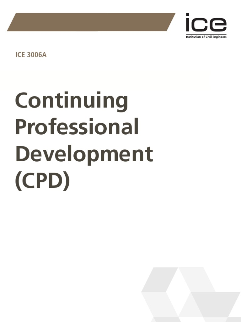 ICE 3006A Continuing Professional Development | Professional ...