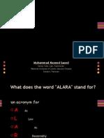 The ALARA