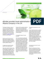 eBuilder provides travel administration to the Absolut Company in the UK