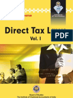 CA Final - Direct Tax Laws Vol. I