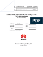 HUAWEI EC325 HOST11.25.03.102 With Speed+ for TATA Release Notes 20071026