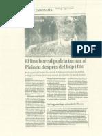 Article sobre el linx a El Segre i a La Mañana