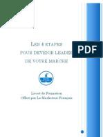 Marketeur français - 4 étapes pour devenir leader du marché