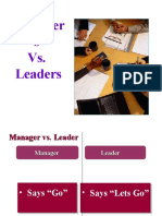 Leaders vs Managers