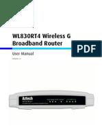 WL830RT4 User Manual v.1.0