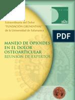 Manejo de opioides en el dolor Osteoarticular