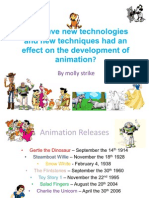 Molly Animation Techniques Technologies Timeline