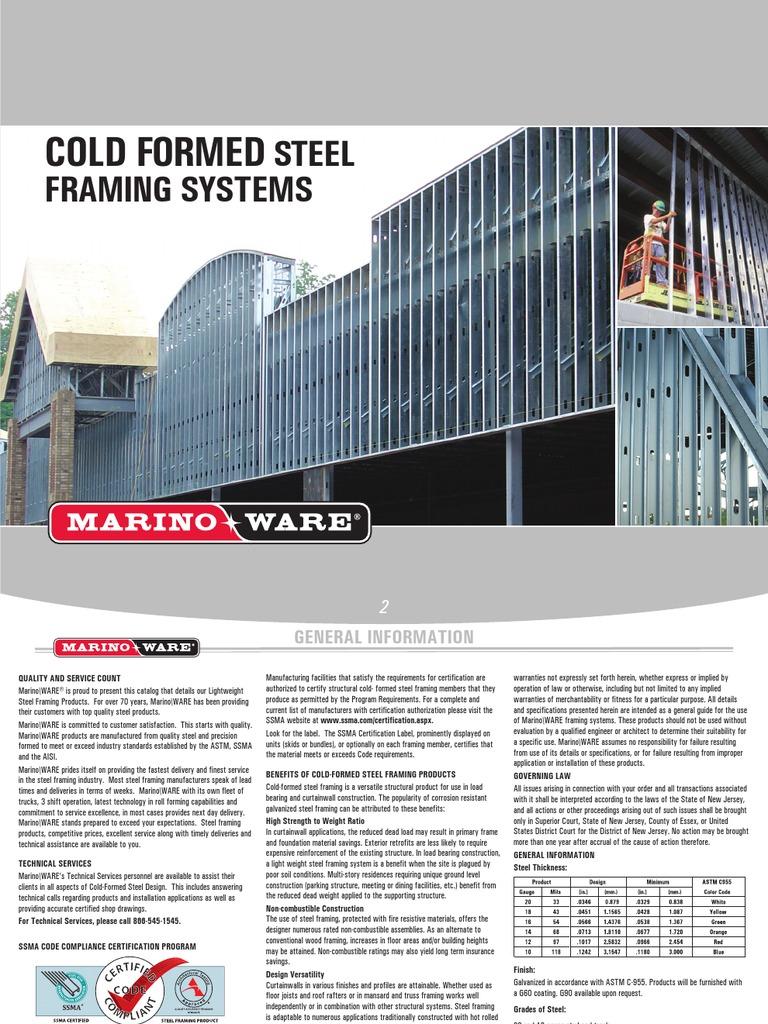 2009 MW CFS Catalog | Framing (Construction) | Bending