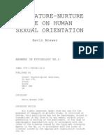 Nature Nurture Debate on Human Sexual Orientation