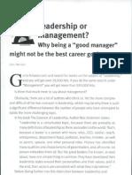 Leadership or Management