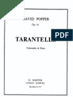 Popper - Tarantelle Op33 Cello Part