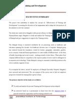 Effectivness of Training & Development Project