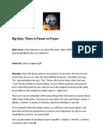 Big Idea - Prayer