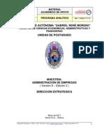 Programa Analtico - Direccion Estrategica MBA