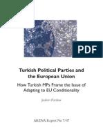 Turkish Political Parties andthe European Union