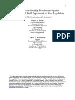 Legislators Responsiveness