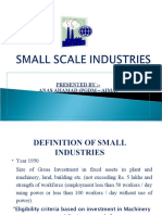 Small Scale Industries by Anas Ahamad