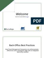 Agresso Webinar - Back-Office Best Practices 111209