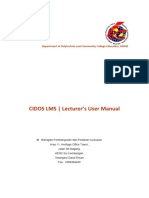 CIDOS LMS - Lecturer User Manual