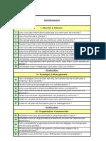 Questionnaire Audit Commercial