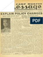 Camp Murphy Message, October 1, 1943