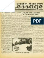 Camp Murphy Message, October 29, 1943