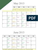 Dr. McArthur's COMM 306 Production Calendar