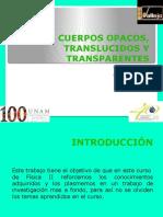Cuerpos Opacos, Translucidos y Transparentes