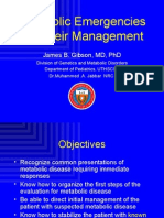 Metabolic Emergencies and Their Management[1]