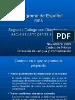 Propuesta curricular para Español