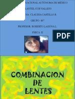 COMBINACION DE LENTES
