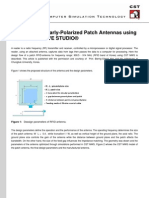 Design of Circularly-Polarized Patch Antennas Using CST MICROWAVE STUDIO